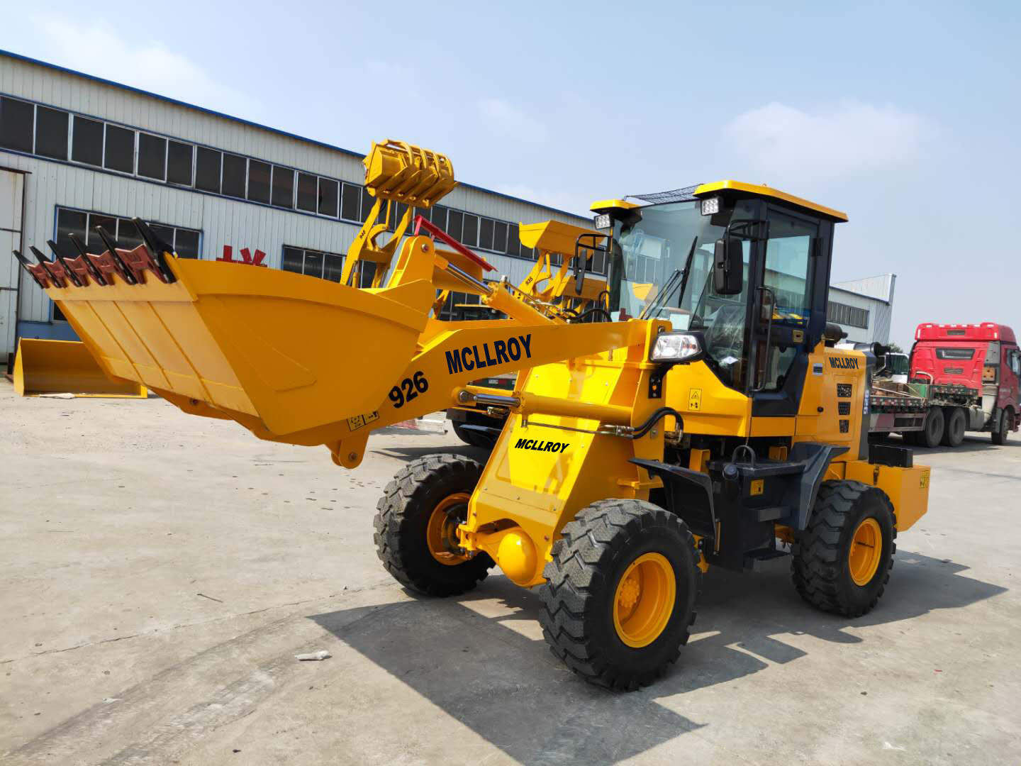 mais recente caso da empresa sobre 6 grupos MC926 Mini Wheel Loaders Delivered To as Filipinas