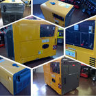 Open Type Power 5kva Air-cooled Diesel Driven Generator with 10 inch Wheels