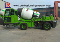 4 Cubic Meters Concrete Mixer Truck , Water Tank Capacity 660L