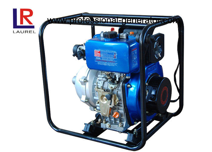 Portable 1.5 inch 5HP High Pressure Diesel Water Pump with 4 Stroke Engine