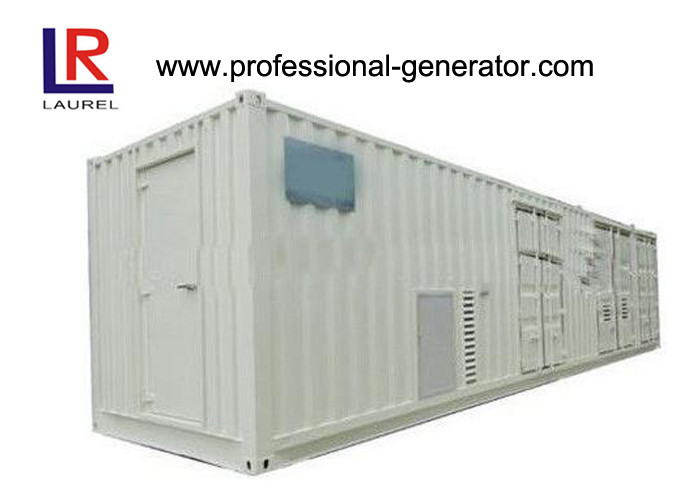 Electrical Motor 50 / 60Hz Container Genset Power Station Diesel 500kVA - 3000kVA