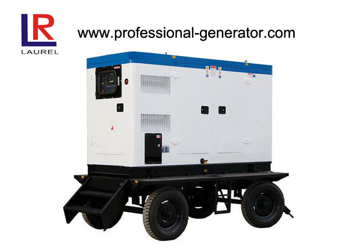 Soundproof Portable Diesel Mobile Power Generator 25kva Cummins Engine