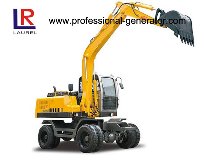 50KN Digging Force Heavy Construction Machinery , Wheel Excavator with 20Mpa Overdrive Pressure