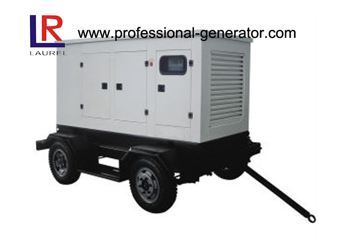 Water Cooled 30kw Mobile Trailer Mounted Diesel Generator , Customised  Available
