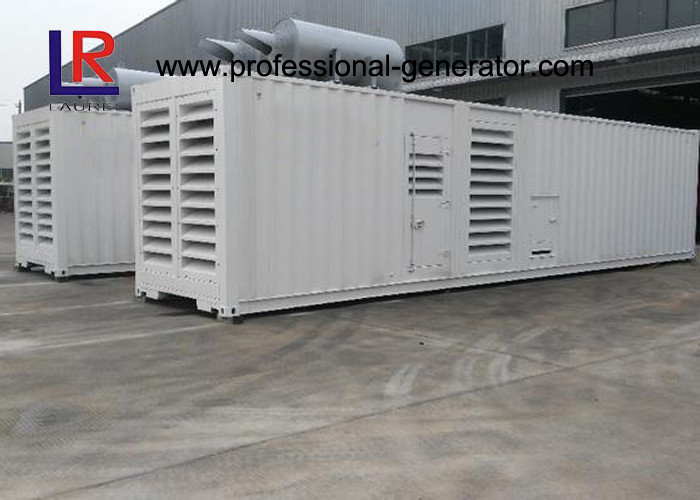 Container Type 1000kw Diesel Generator Set with Cummins KTA50-G3 CE Standard , Low Noise