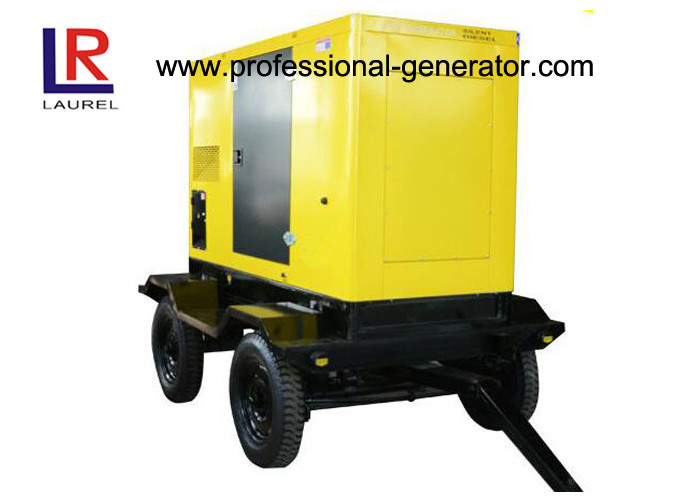 50kVA 40kw Mobile Power Generator , Movable Silent Diesel Electric Trailer Generator with Cummins Engine